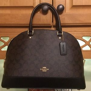 Authentic coach handbag with duster